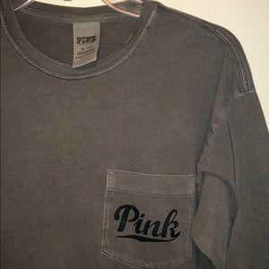 PINK Long Sleeved Olive Green Shirt
